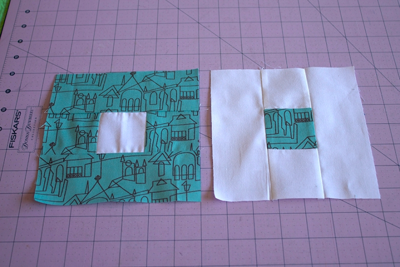 Right of Way Quilt Block, Step 2