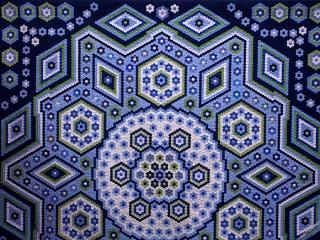 """Hexagon Quilt """"La Passion"""", Grit Kovacs"""