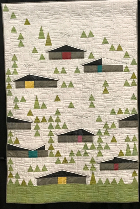 Eichler Neighborhood, Maker: Mickey Beebe, Quilter: Tami Levin, the Quilted Lemon, Santa Cruz, CA