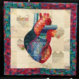 Mike's Heart, Maker/Quilter: Ms. Miyuki Humphries, Tokyo, Japan