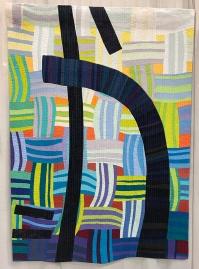 IMPROVISATION, Configuration: Kasuri With Five Lines, Julie Haddrick, Adelaide, South Australia, Australia