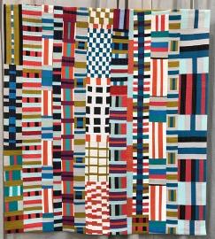 IMPROVISATION, Rhythm of the Rails, Kristin Shields, Central Oregon Modern Quilt Guild