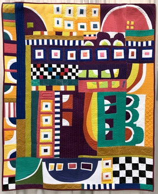 IMPROVISATION, Crazy Town RoopeToope, Irene Roderick, Austin Modern Quilt Guild