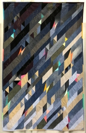 IMPROVISATION, Blue Jean Butterflies, Judge's Choice, Charlotte Noll, South Florida Modern Quilt Guild