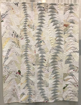 QUILTING CHALLENGE, Free Motion, 1st Place Winner, Mary Keasler, Chattanooga Modern Quilt Guild