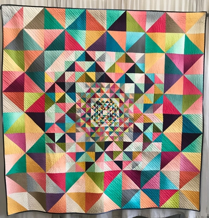 MODERN QUILT GUILD'S 2017 QUILTS OF THE MONTH, Singularity, Jenn Nevitt, Fort Worth, Texas, Individual Member