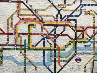 London Tube Map, Carmen Michele Braithwaite, Orange, CA